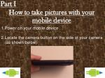 how to take pictures with your mobile device