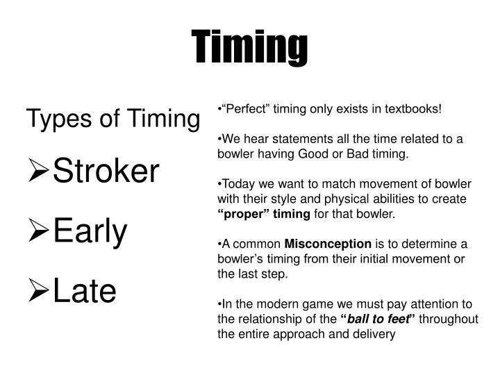 Types of Timing