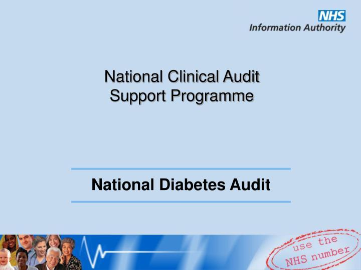 National clinical audit support programme