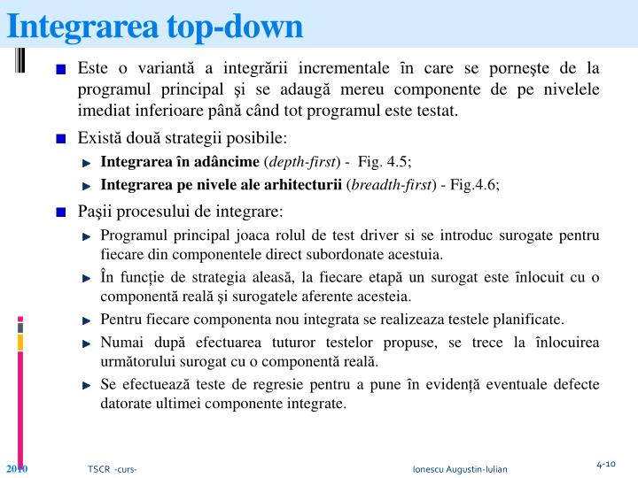 Integrarea top-down