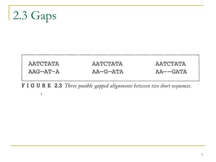 2.3 Gaps