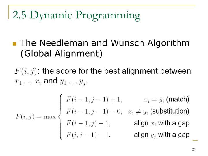 2.5 Dynamic Programming