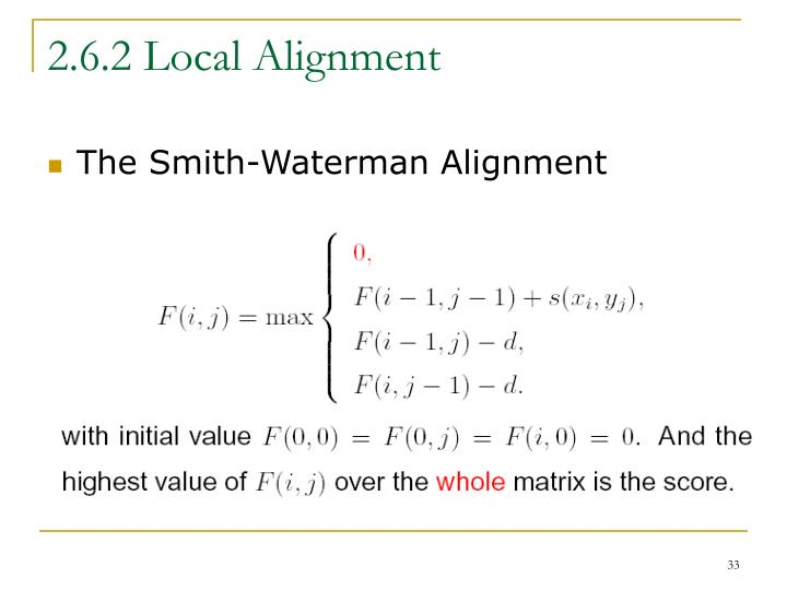 2.6.2 Local Alignment