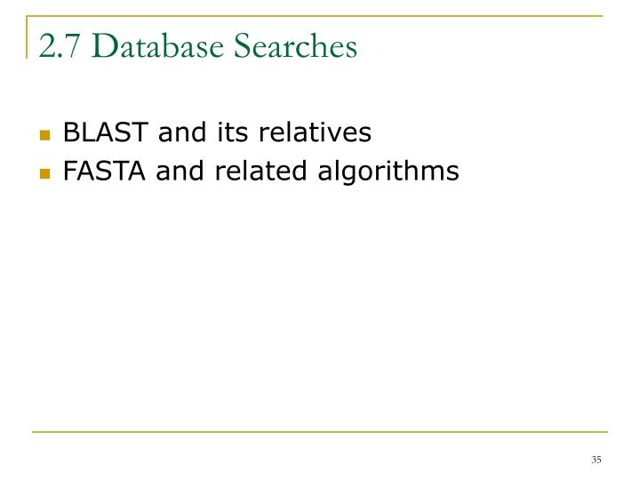 2.7 Database Searches