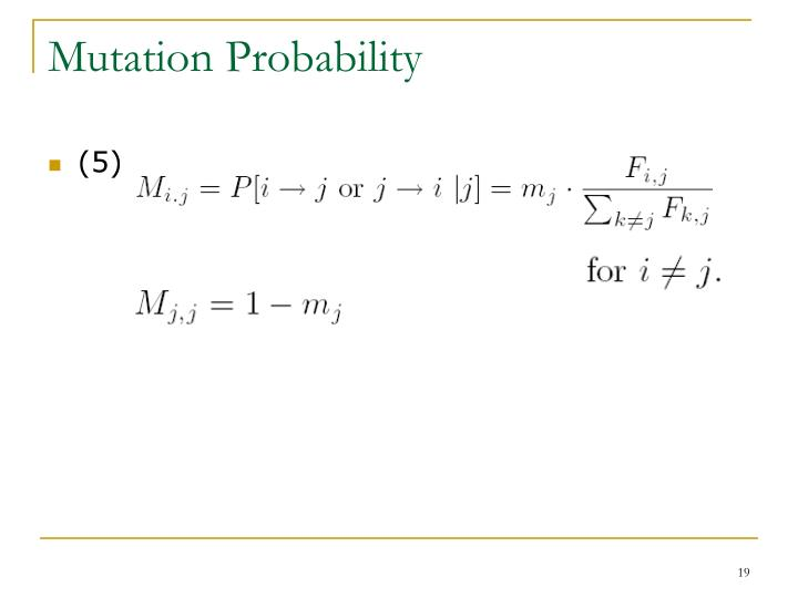 Mutation Probability