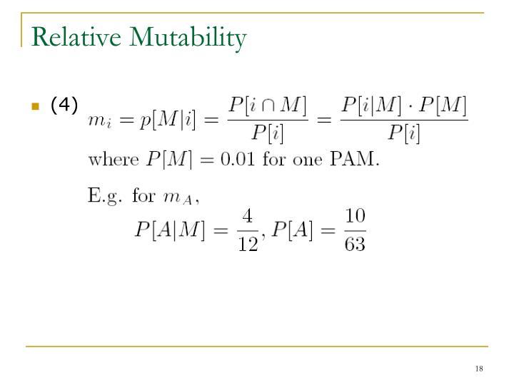 Relative Mutability