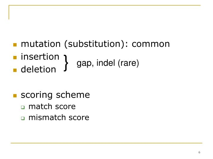 mutation (substitution): common