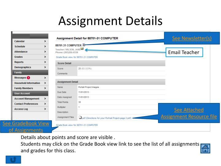 Assignment Details