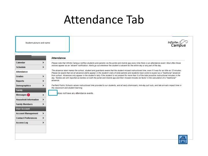 Attendance Tab