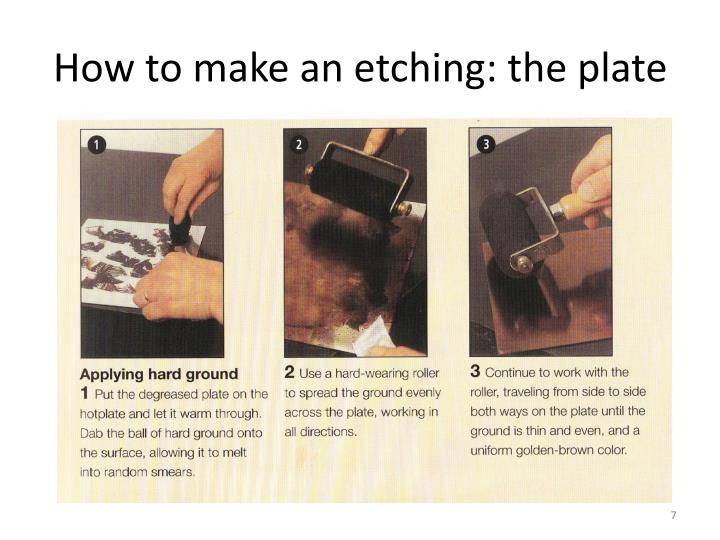 How to make an etching: the plate