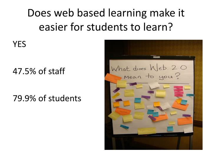 Does web based learning make it easier for students to learn?
