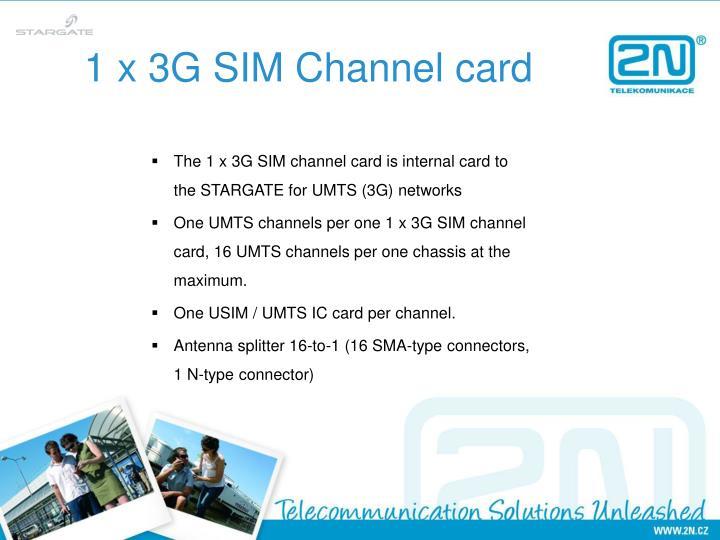 1 x 3G SIM Channel card