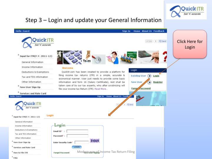 Step 3 – Login