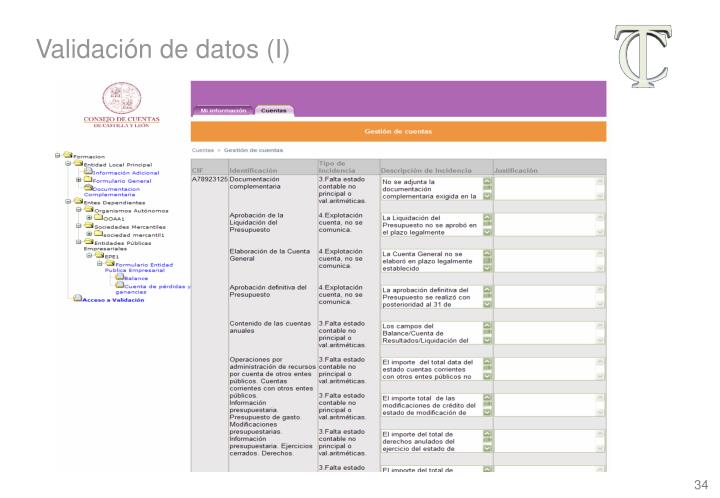 Validación de datos (I)