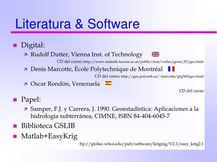 Literatura & Software