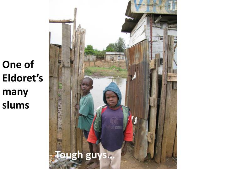 One of Eldoret's many slums