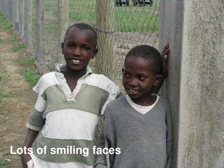 Lots of smiling faces