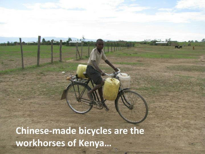 Chinese-made bicycles are the workhorses of Kenya…