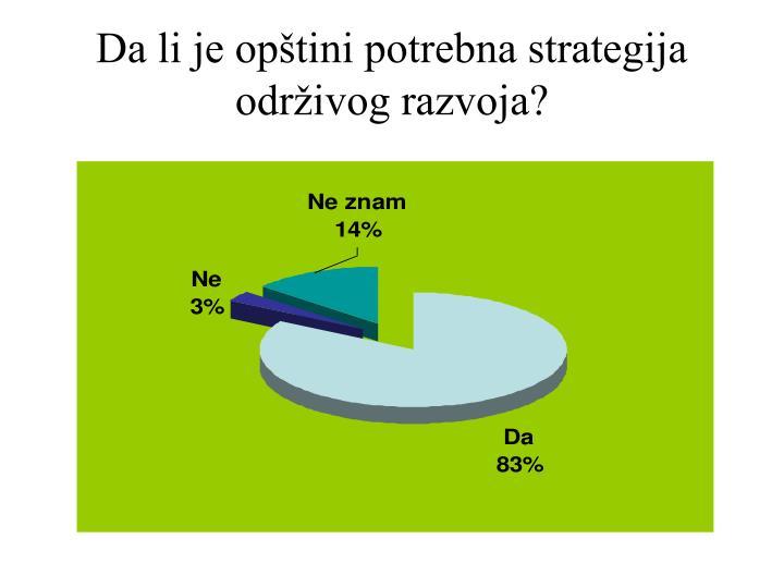 Da li je opštini potrebna strategija održivog razvoja?