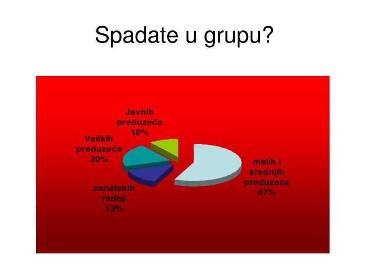 Spadate u grupu?