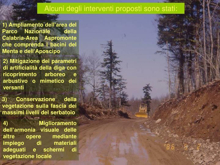 Alcuni degli interventi proposti sono stati: