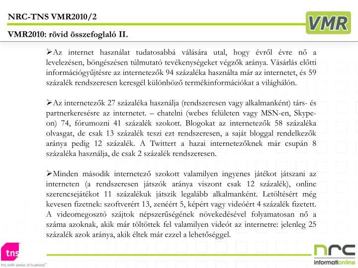 NRC-TNS VMR2010/2