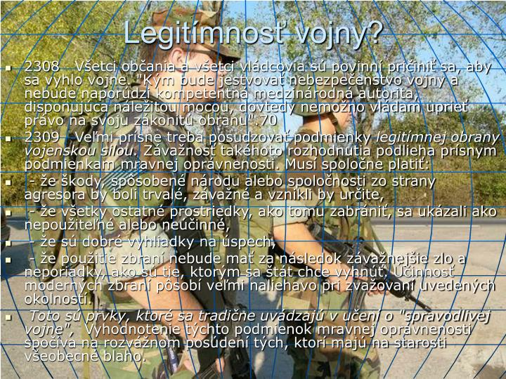 Legitímnosť vojny?