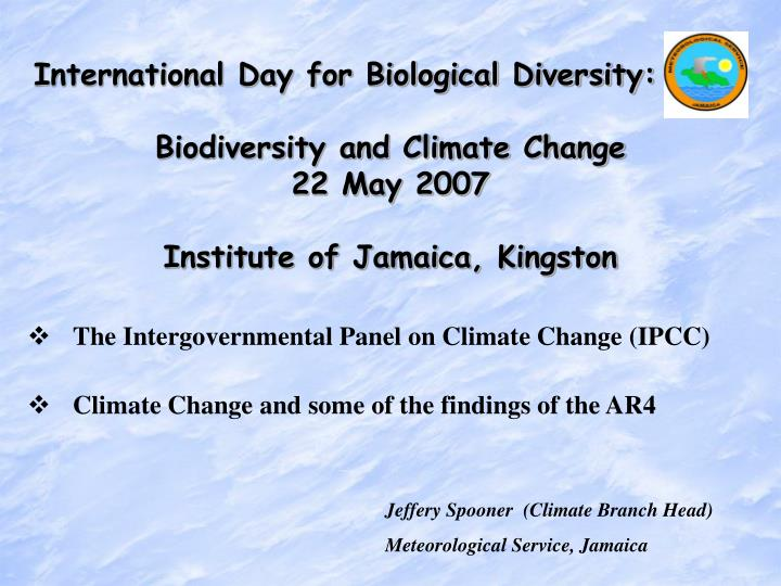 International Day for Biological Diversity: