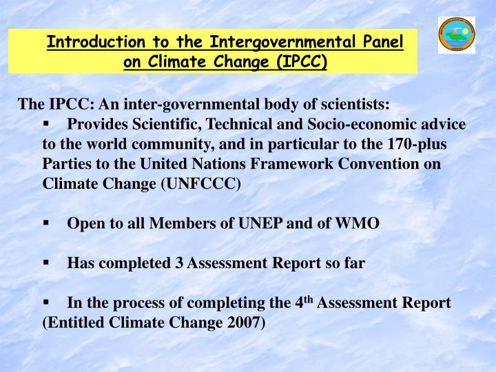 Introduction to the Intergovernmental Panel