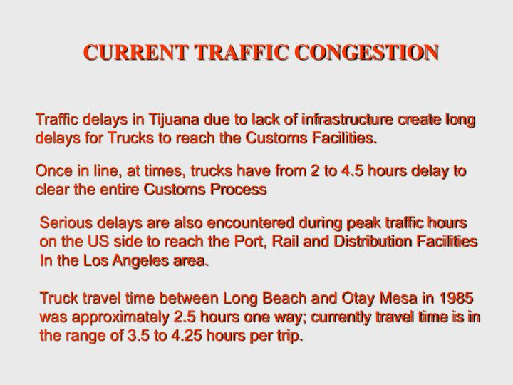 CURRENT TRAFFIC CONGESTION