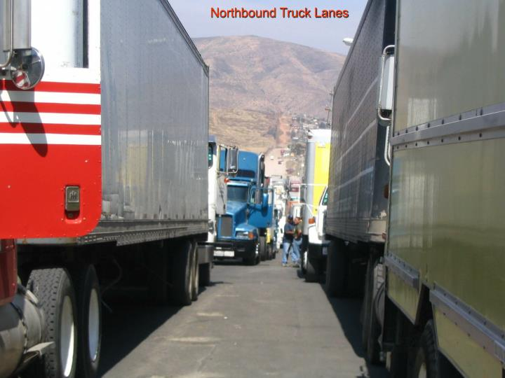 Northbound Truck Lanes