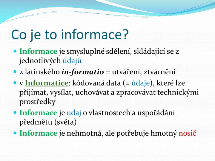 Co je to informace?