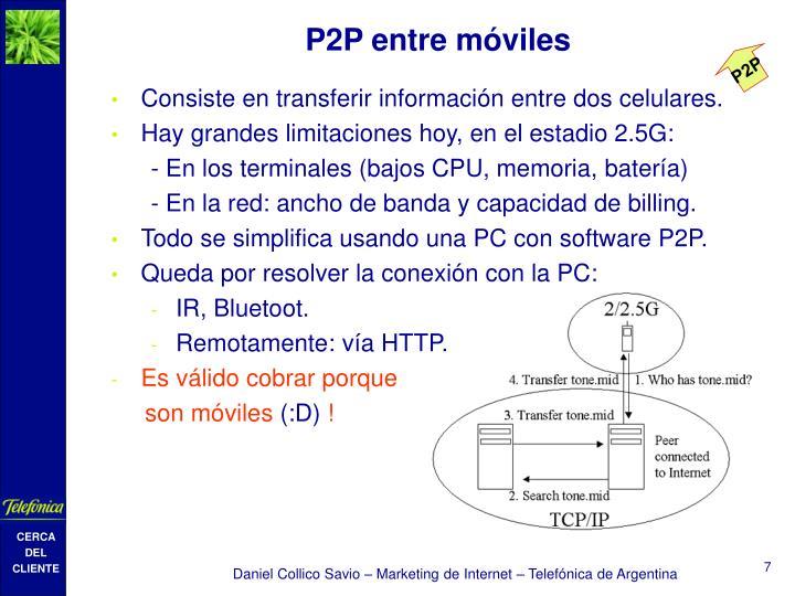 P2P entre móviles