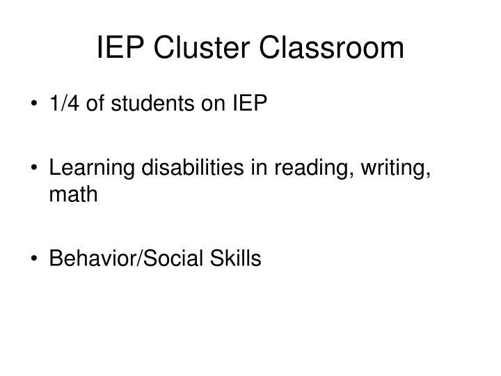 IEP Cluster Classroom