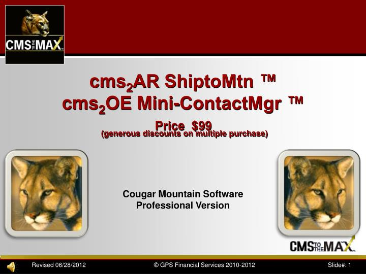 Cms 2 ar shiptomtn cms 2 oe mini contactmgr price 99 generous discounts on multiple purchase