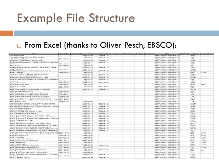 Example File Structure