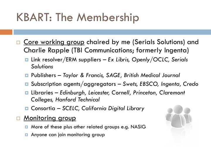 KBART: The Membership
