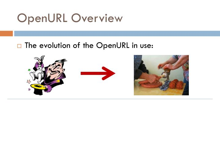 Openurl overview