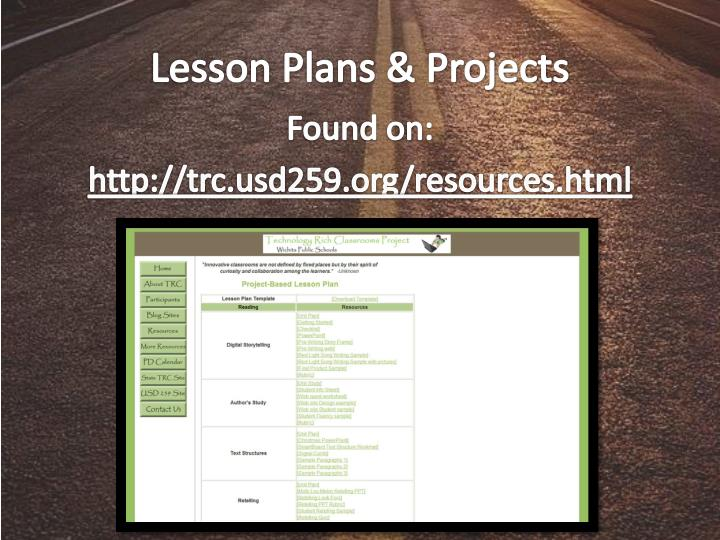 Lesson Plans & Projects