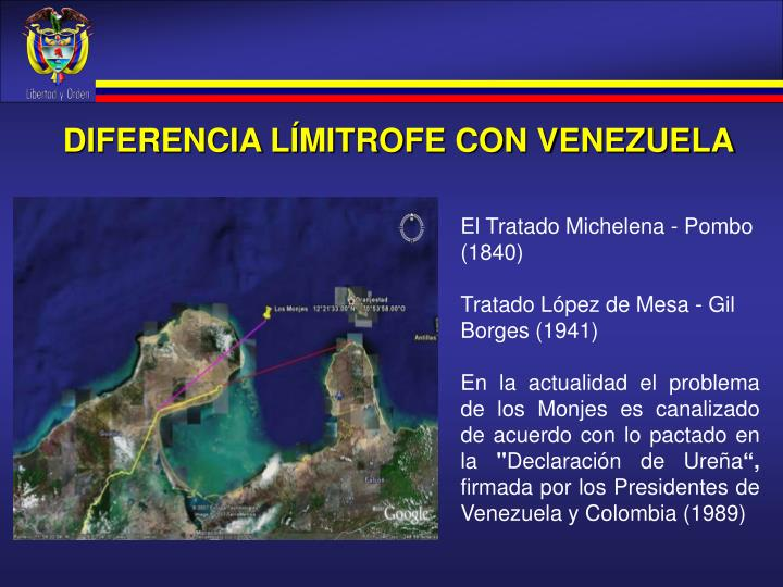 DIFERENCIA LÍMITROFE CON VENEZUELA