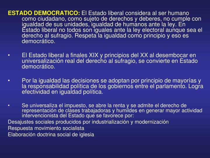 ESTADO DEMOCRATICO:
