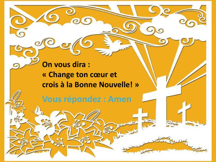 On vous dira :