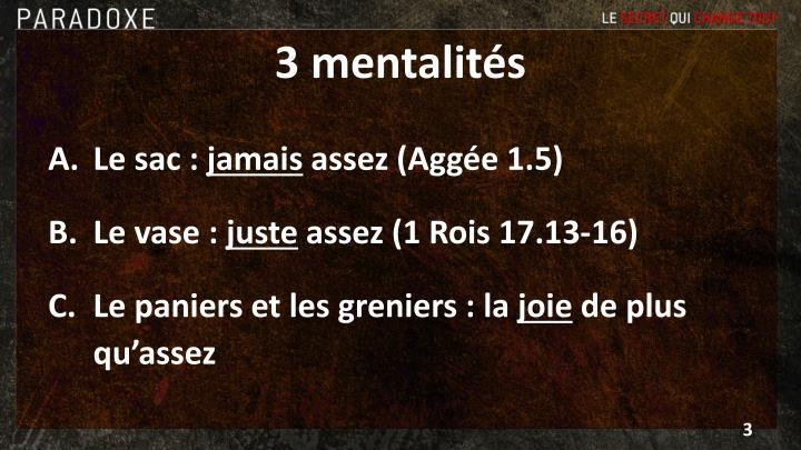 3 mentalités