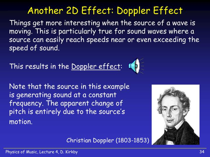 Another 2D Effect: Doppler Effect