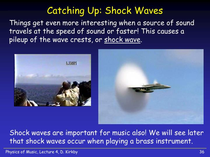 Catching Up: Shock Waves