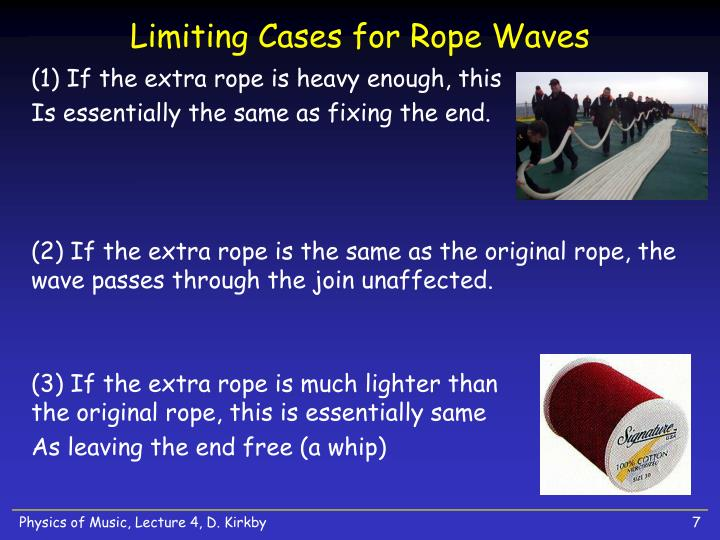 Limiting Cases for Rope Waves
