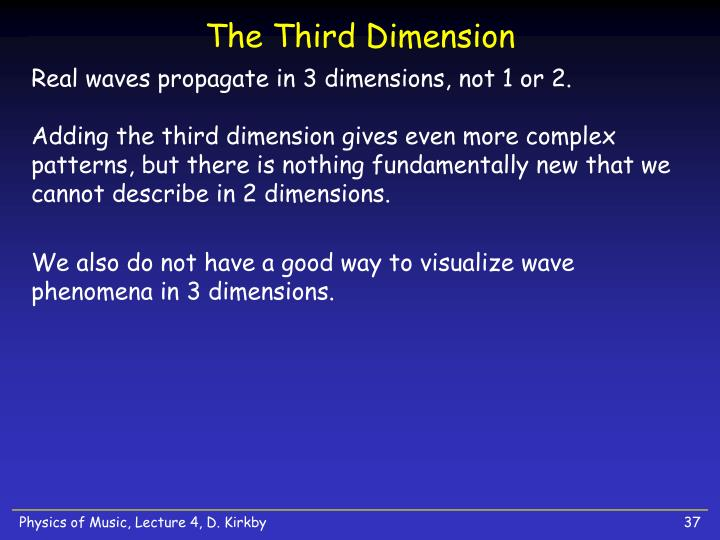 The Third Dimension