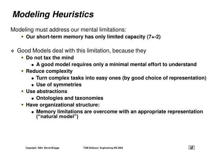 Modeling Heuristics
