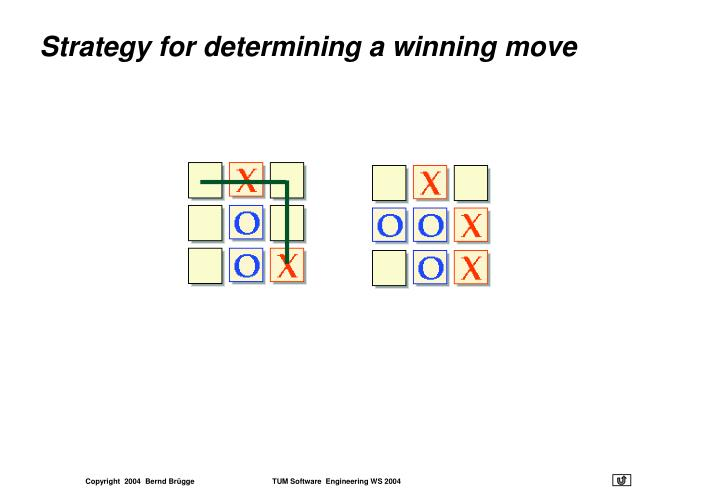Strategy for determining a winning move