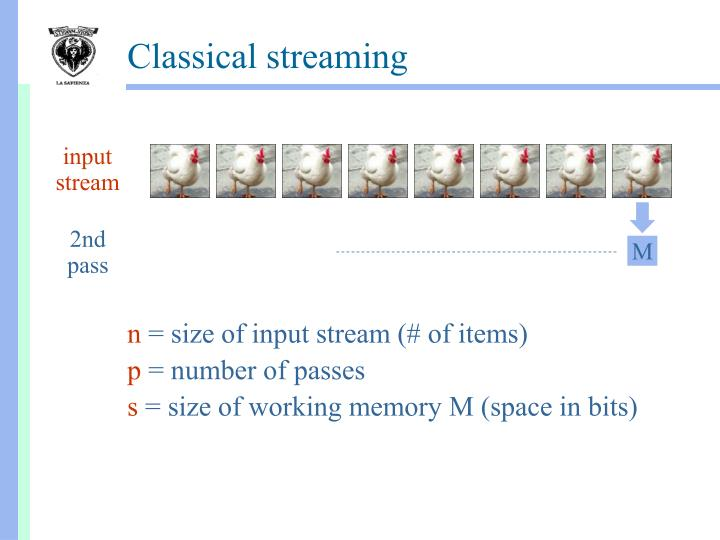 Classical streaming